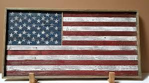 Rustic Wood American Flag Framed
