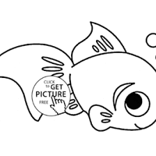 Cute Little Fish Coloring Page For Kids Animal Pages