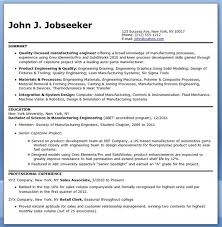 Manufacturing Engineer Resume Samples Entry Level