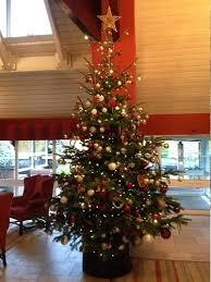 12 Ft Christmas Tree Decorated On Rental Storage Box