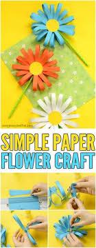 Paper Flower Craft Easy Crafts For KidsSimple