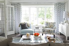 blue living room curtains living room transitional with light blue