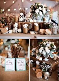 Cotton Wedding Centerpiece Rustic