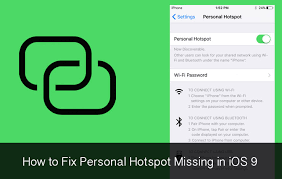 Personal Hotspot does not work after upgrading to iOS 9  Mac
