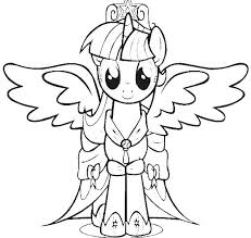 Free Alicorn Coloring Pages My Little Pony Princess Twilight Sparkle Colouring To Pretty Draw