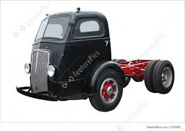 Image Of Old Black Cab Over
