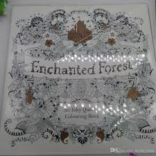 2015 Best Sales Edition Enchanted Forest Secret Garden An Inky Quest Coloring Book For Relieve Stress Graffiti Painting Drawing Books