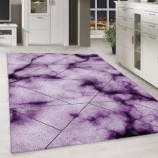 moderner kurzflor teppich marmor muster wohnzimmer