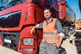 100 Looking For Truck Drivers Driver In Front Of His Freight Ward Lorry At