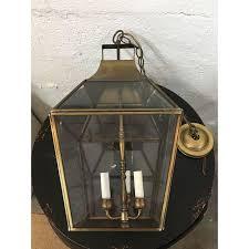 Underwriters Laboratories Lamps Antique by Vintage Underwriters Laboratories Brass U0026 Glass Ceiling Lantern