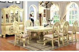 China Cabinet And Dining Room Set Formal Table Popular Sets With White