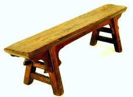 Small Rustic Cypress Wood Antique Bench