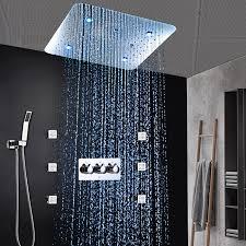 hotel luxus badezimmer dusche system led dusche panel 20
