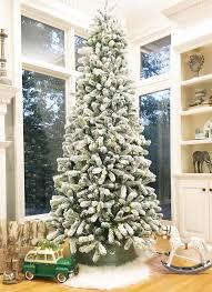 12 Foot King Flock Slim Artificial Christmas Tree Unlit