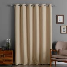Thermal Curtain Liner Panels by Aurora Home Wide Width 84 Inch Thermal Blackout Curtain Panel