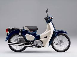 The 2018 Honda Super Cub In Urbane Denim Blue Metallic Color
