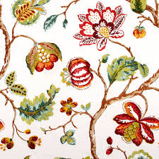 Material For Curtains And Upholstery by Red Floral Fabric Embroidered Drapery Fabric Custom Red
