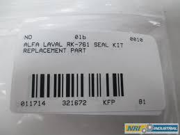 ALFA LAVAL RK 761 SEAL KIT REPLACEMENT PART D