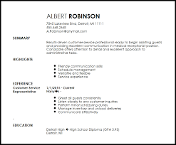 Free Medical Receptionist Entry Level Resume Template