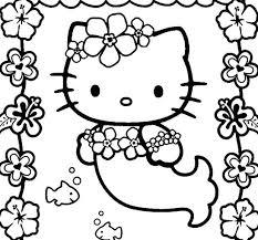 Hello Kitty Halloween Coloring Pages Printables Easter Printable Mermaid Christmas Free Print