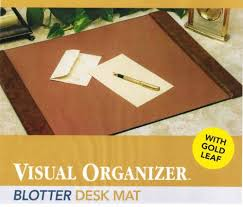 amazon com visuwrite blotter desk pad gold brown 20 x 36