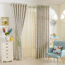 Short Window Curtains For Bedroom Treatments Drapery Floral Design Rustic Blackout Tulle Girls In From Home