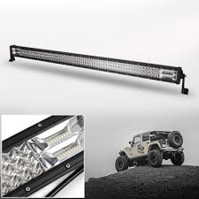 7D 52Inch LED Work Light Bar 675W OSRAM Tri Row Spot Flood bo