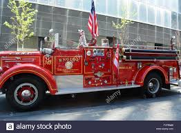 100 Old Fire Truck Fashioned Fire Truck On Display In New York City Stock Photo