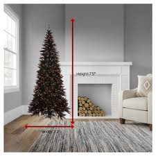 75ft Pre Lit Artificial Christmas Tree Black Fir