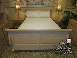 Ethan Allen Sleigh Beds by Vintage Ethan Allen Country French Full Size Sleigh Bed In Bisque