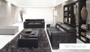 living room design black leather sofa sets living room sofas