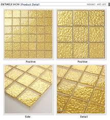 Gold Mosaic Floor Tile Jinyuanmosaic
