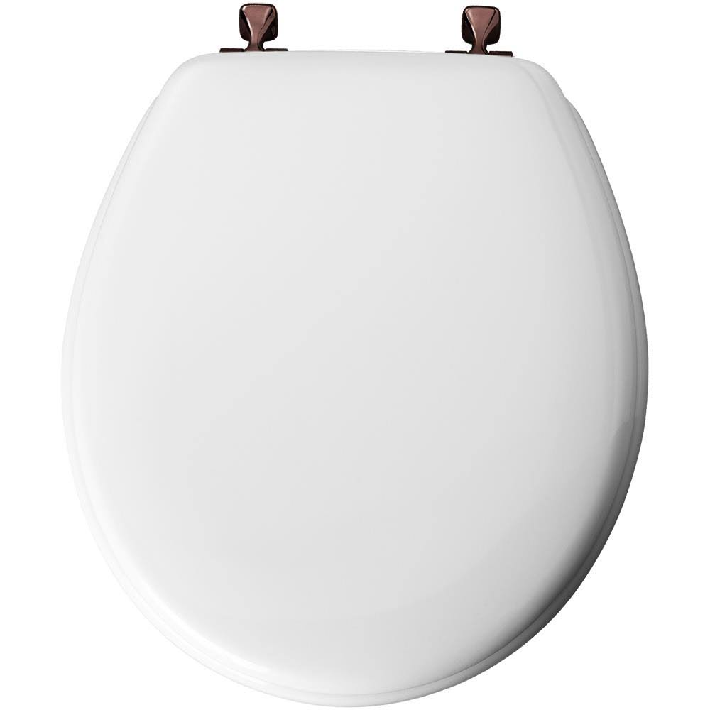 Mayfair 44ORA 000 Molded Wood Toilet Seat - with Oil-Rubbed Bronze