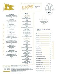 Sweetwater River Deck Drink Menu by The Wyld Dock Bar
