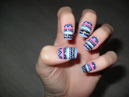 100 Nail Art 2011 Girl Up North BEAUTY AZTEC NAIL ART TUTORIAL