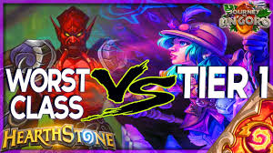hearthstone worst class vs tier 1 control warlock deck tech