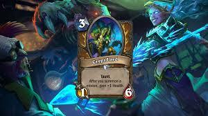 hearthstone crypt lord reinforces token druid decks in frozen throne