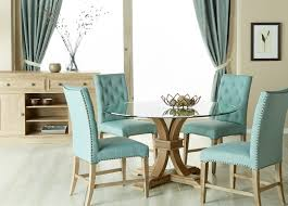 Devon Round Glass Top Dining Set With Wilshire Oasis Fabric Chairs ... Round Back Ding Chair Stunning High Upholstered Magnussen Home Walton Wood Table Set With Roundup Natural Linen Paige Chairs Of 2 World Market Signature Design By Ashley Trudell 5piece Gray Roundback Eichholtz Dearborn 1 Oroa Cramco Inc Contemporary Parkwood With Amazoncom Formal Luxurious 5pc Antique Silver Finish Turner At Gardnerwhite Davenport And 4 In Ivory Oak Dav010 Beige Ding Chair Curve Arm Black Wood Frame Also Round