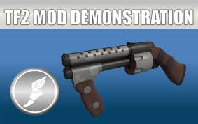 Tf2 Iron Curtain Skins by Tf2 Mod Weapon Demonstration The Two Hand Cannon Youtube
