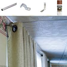 Electrical Conduit Curtain Rods by Diy Curtain Rod For A Large Picture Window On The Cheap The