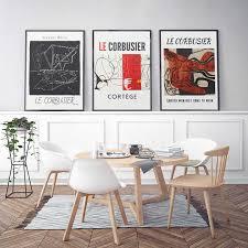 vintage abstrakte druck französisch le corbusier ausstellung