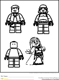 Star Wars Coloring Printable Lego
