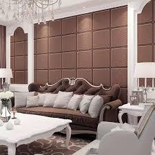 hochwertige luxus decke tapete 3d quadratischen gitter papel de parede braun beige moderne wohnzimmer tapete hintergrund wand
