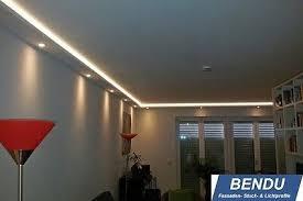 led stuckleisten indirekte beleuchtung wohnzimmer wand decke