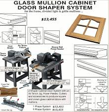weaver glass mullion door shaper system for cabinet doors