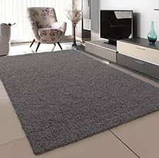 sanat teppich wohnzimmer grau hochflor langflor teppiche modern größe 120x170 cm