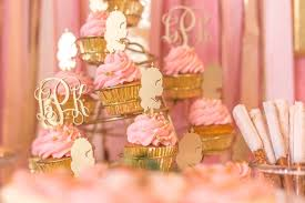 Pink White And Gold Birthday Decorations by Birthday Theme Gold And Pink