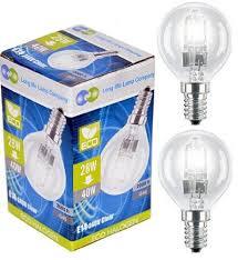 6 x eco halogen energy saving mini golf balls globes 28w 40w ses