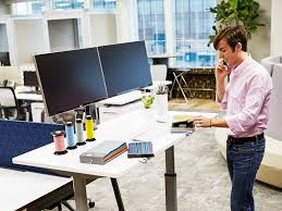 Dual Monitor Standing Desk Attachment by Ergonomic Dual Monitor Arm Desk Mount Standdesk U2013 Standdesk Co