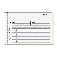 Print Rediform 2 Part Carbonless Invoice Form